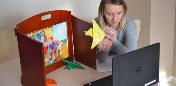 Spotkanie z bajką on-line dla dzieci ze Świetlicy przy Szkole Podstawowej w Bogumiłowicach
